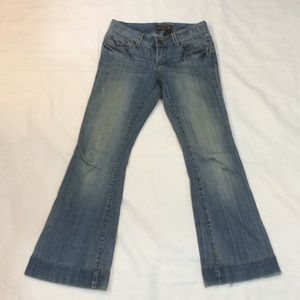 Seven7 Sexy Flare distressed jeans
